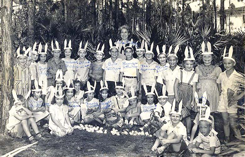 1946 - Mrs. Pedigos 1st grade class at Coral Gables Elementary School