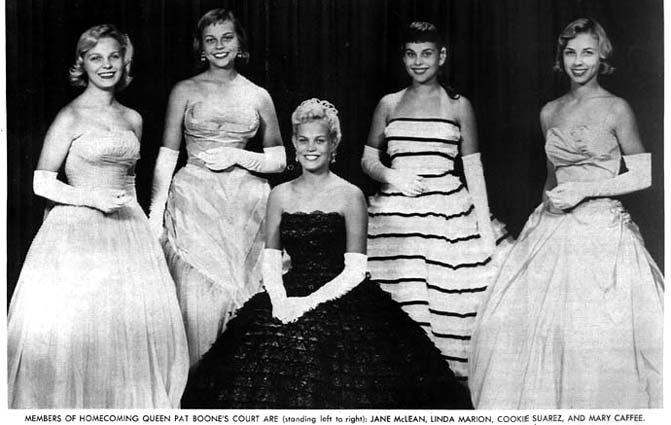 1958 - closeup of the Homecoming Court at Coral Gables High School
