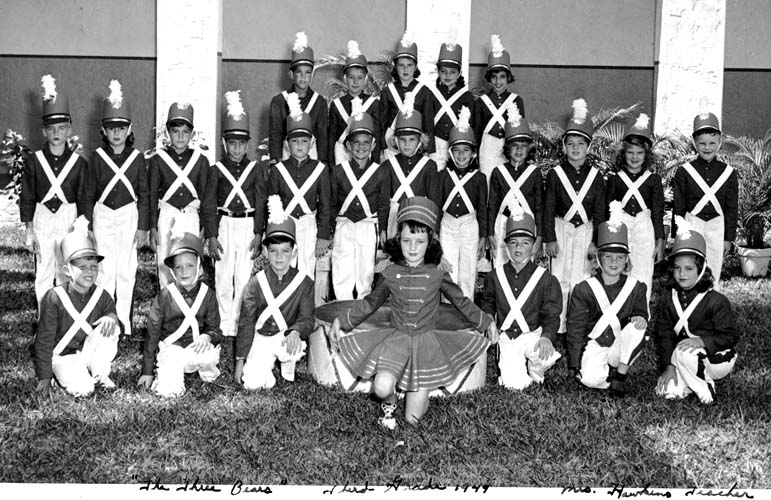 1949 - Mrs. Hawkins 3rd grade soldiers, Coral Gables Elementary School