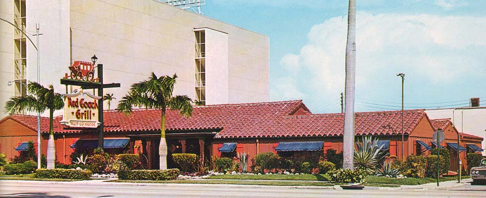 1960s - the Red Coach Grill, 1455 Biscayne Boulevard, Miami