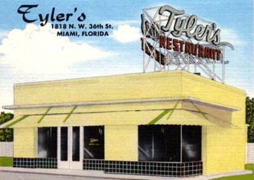 1940s - Tylers Restaurant at 1818 NW 36th Street, Miami