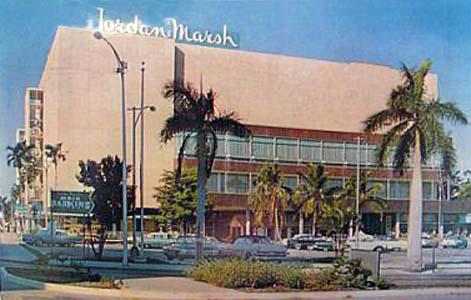 Late 1950s - east end of Jordan Marsh on NE 15th Street looking west toward Biscayne Boulevard