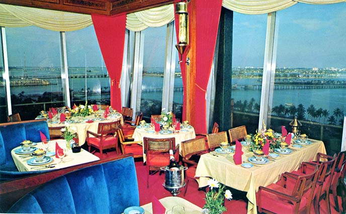 Mid 1950s - the Top of the Columbus Hotel restaurant on Biscayne Boulevard