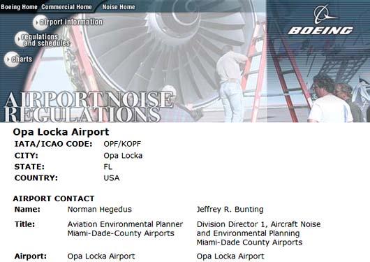 Boeing has it wrong as Opa Locka Airport