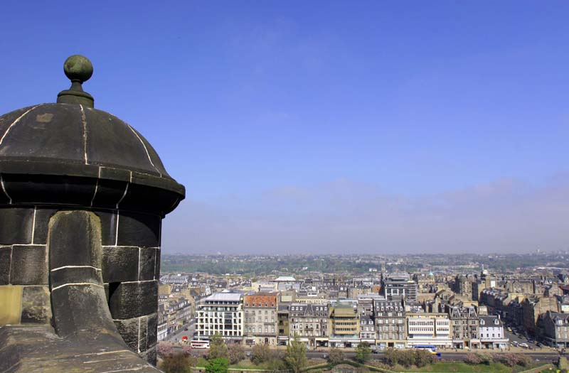 View of City from Edinburgh Castle Parapets, Edinburgh.