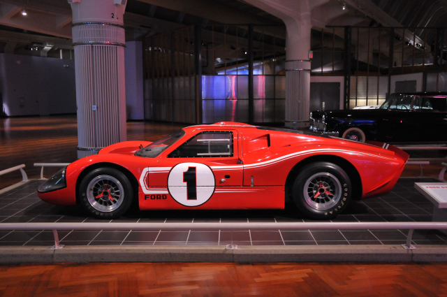 1967 Ford GT Mark IV, driven by Dan Gurney and A.J. Foyt to victory in the 1967 Le Mans 24-hour race in France.