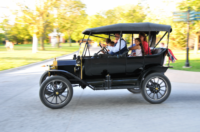 Visitors can take rides in a fleet of Ford Model Ts at Henry Fords Greenfield Village in Dearborn, Michigan. (PP)