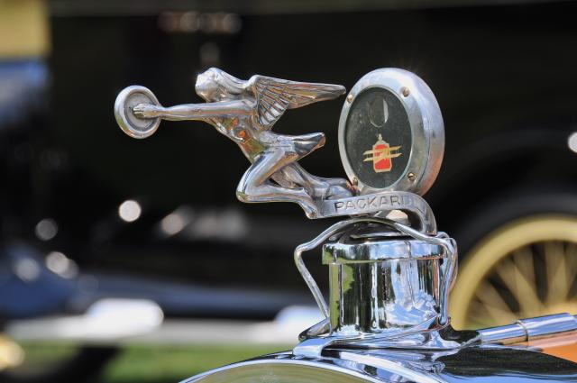 Hood ornament of 1925 Packard 236 Speedster Phaeton by LeBaron (PP br/co)