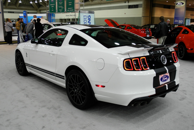2013 Ford Mustang Shelby GT500 with initial rating of 650 hp SAE