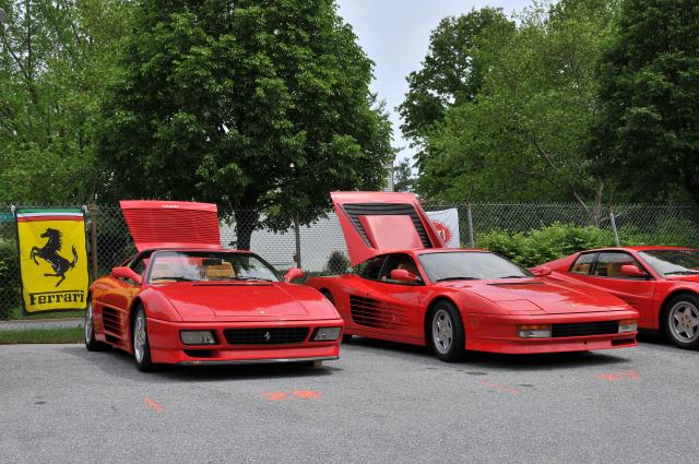 1990s Ferrari 348 and 1980s Testarossas (3250)