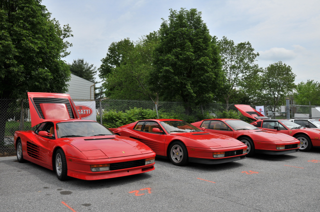 1980s Ferrari Testarossas and a 328 (3254)