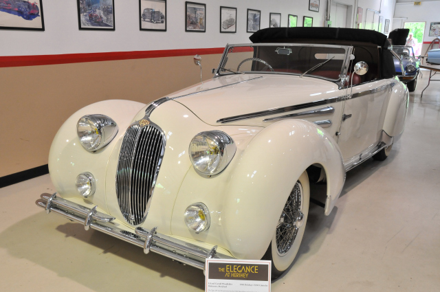 1948 Delahaye 135M Cabriolet, chassis 800998, body by Figoni & Falaschi, owned by Ed & Carroll Windfelder of Baltimore (3637)