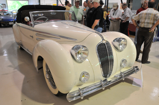 1948 Delahaye 135M Cabriolet, body by Figoni & Falaschi, owned by Ed & Carroll Windfelder of Baltimore since 1971 (3647)