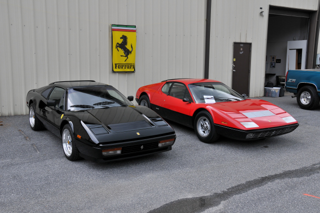 1980s Ferrari 328 GTB, left, and 1974 Ferrari 365 GT4 BB (3707)