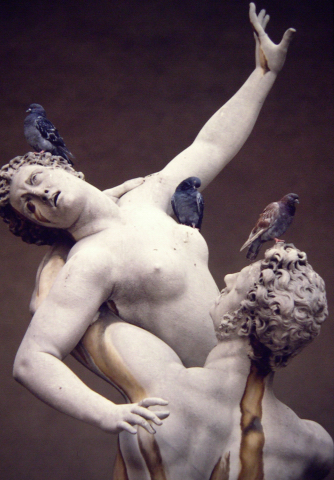 Copy of The Rape of the Sabine Women, Florence, 1982.
