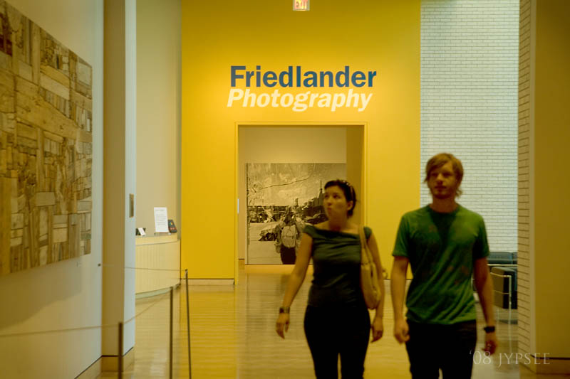 two coming from the friedlander exhibit
