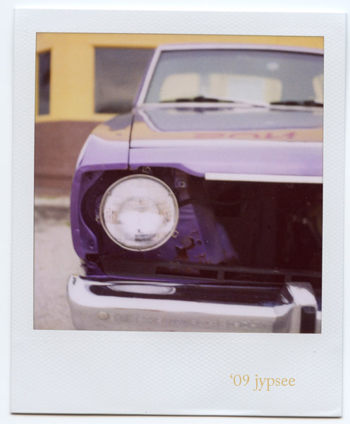 purple headlight