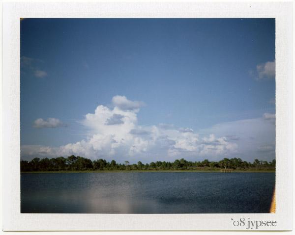 looking across Webb Lake