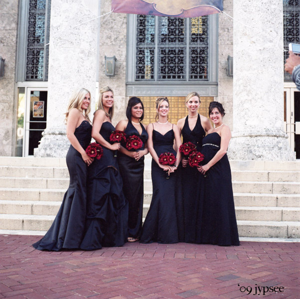 brides maids-in-a-row