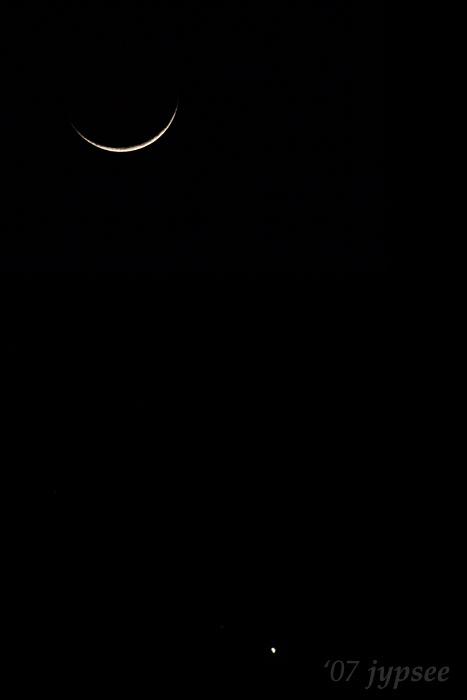 waxing moon and venus