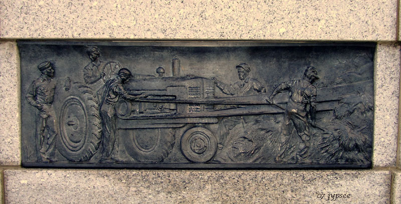 sculpture panel at the WW2 Monument