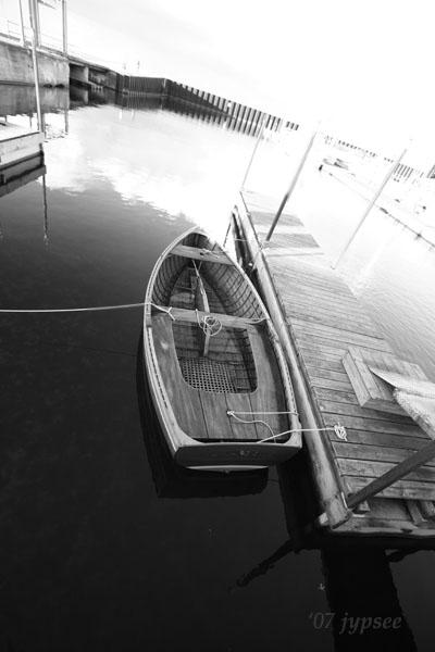 small boat in the small boat harbor
