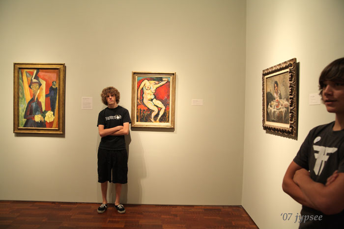two friends at the museum