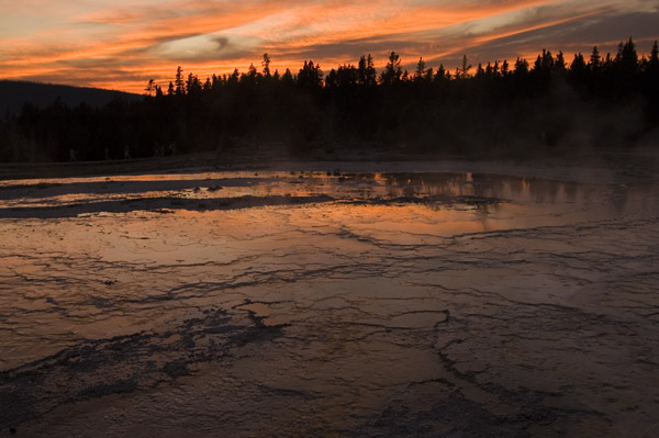Sunset at Geysers