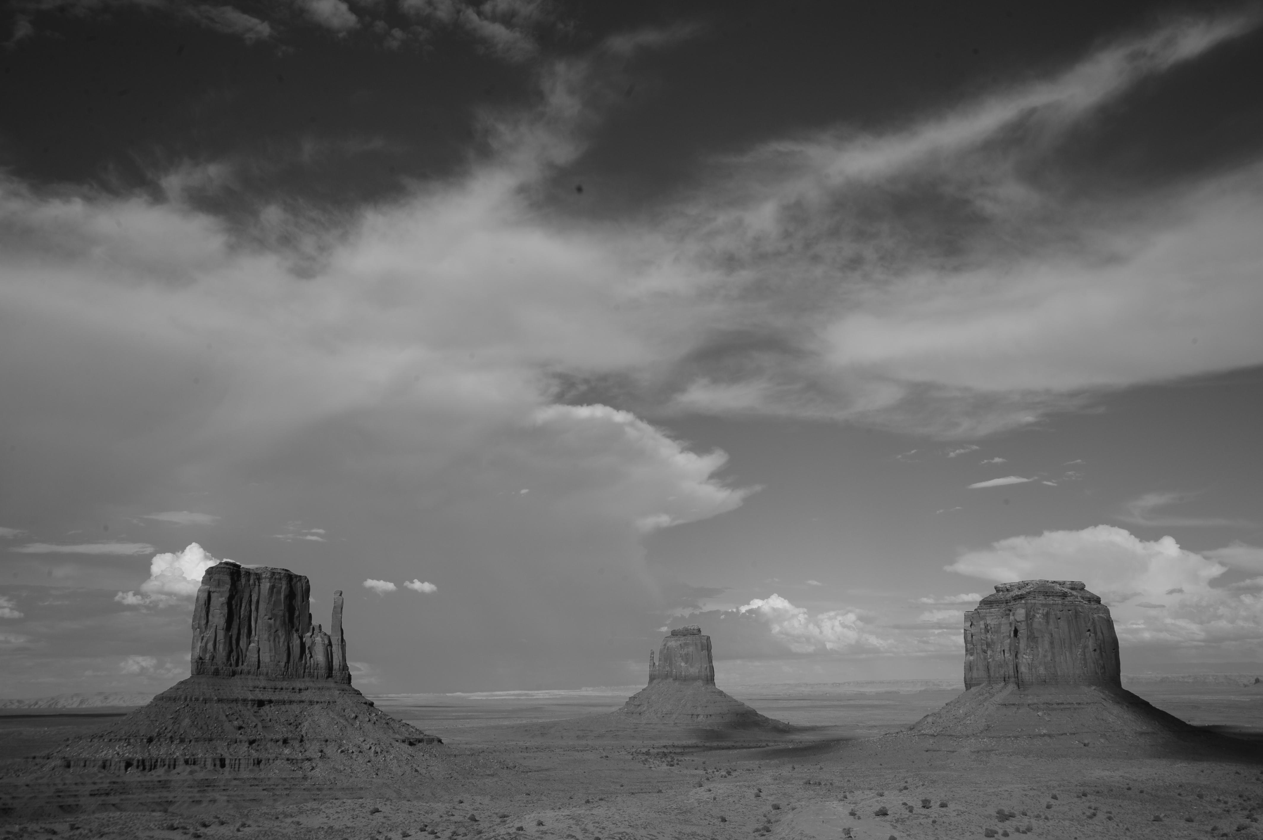 Valley in Black and White