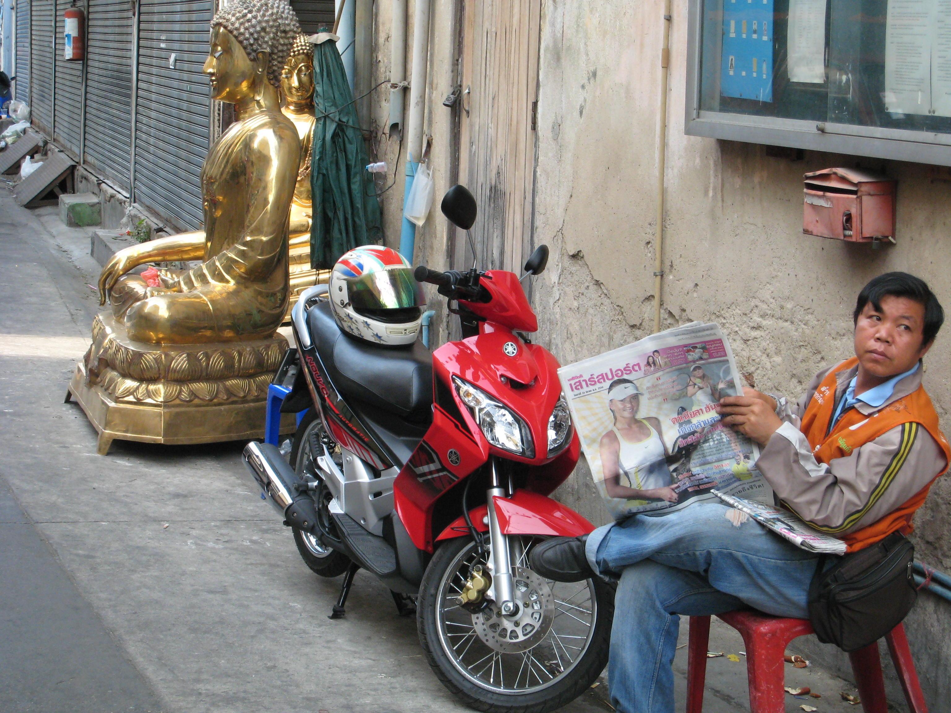 Buddha & Moto Man