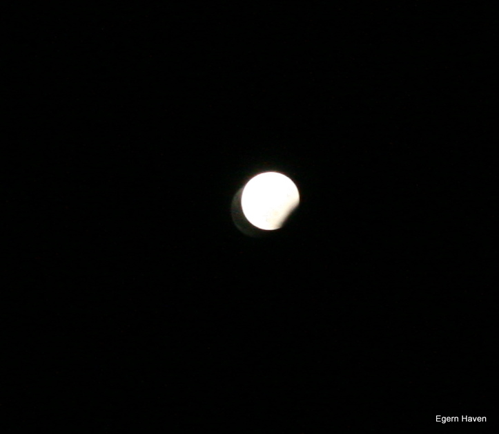 Eclipse of the moon New Years Eve Denmark