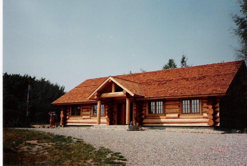 The New Blokhusmuseet Licoln Log Cabin Rebild