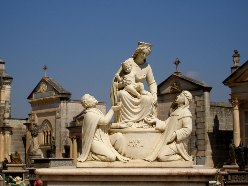Cemetary of  small town of the south Italy