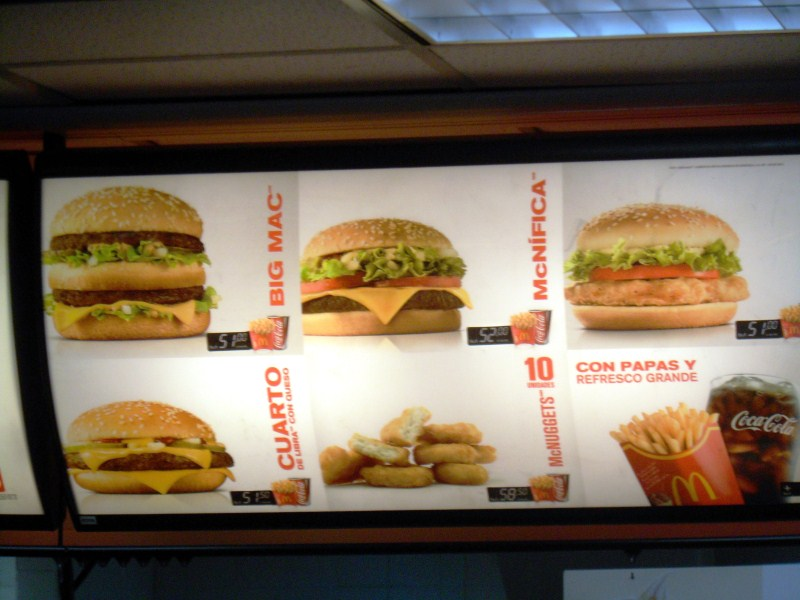 Original mcdonalds menu