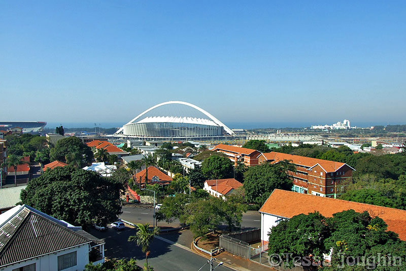 The Moses Mabhida Stadium from Robyns flat