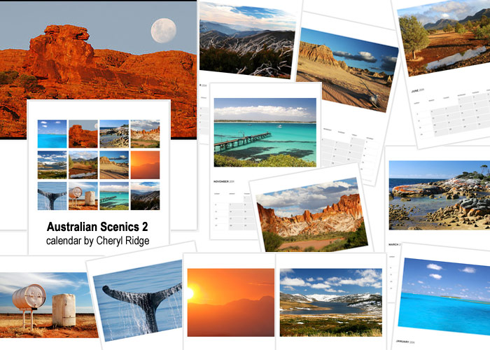 Australian Scenics calendar created on Redbubble