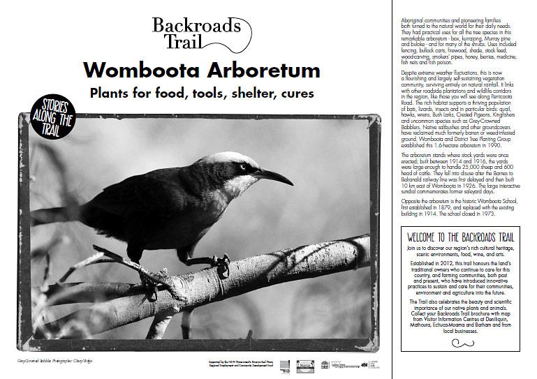 Interpretive panel - bird image supplied