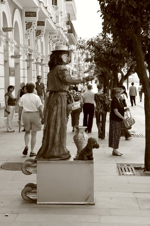 On the street in Madrid