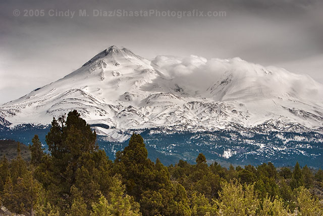 Mount Shasta from Plutos Cave