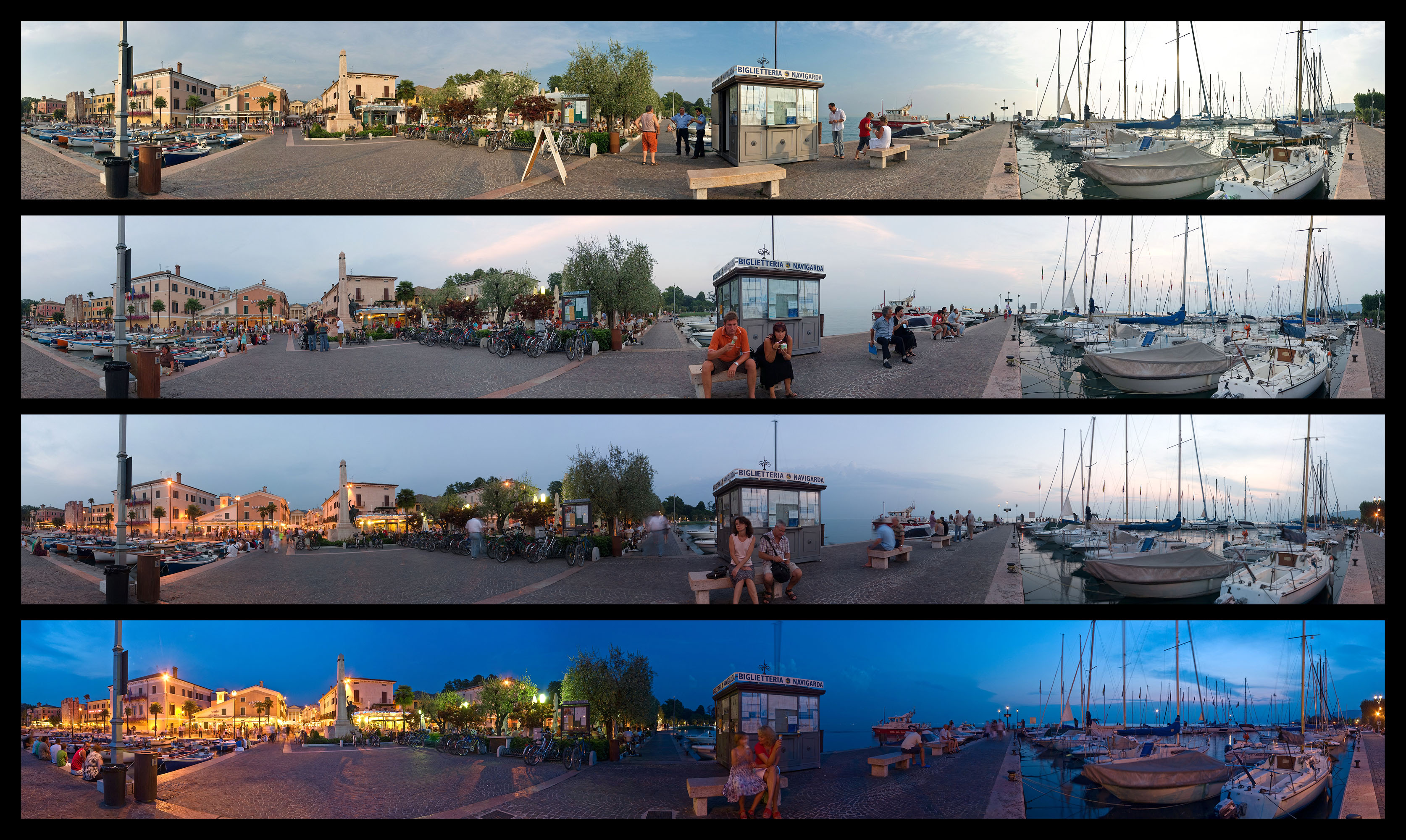 Bardolino harbor - into the night (large version)