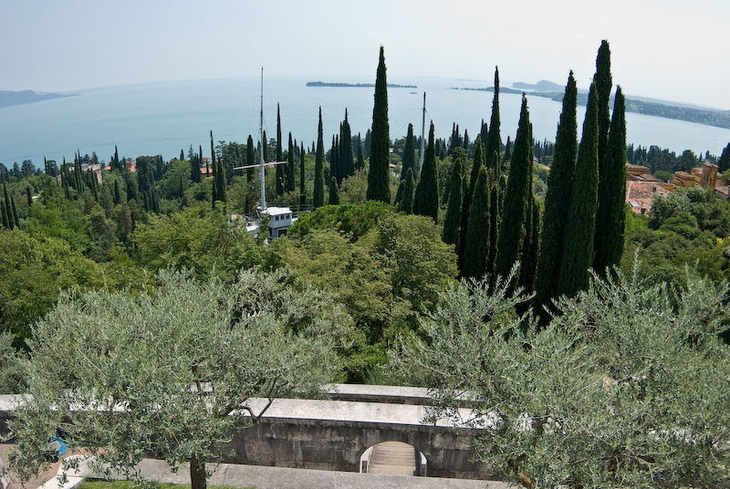 View from Mausoleum to ship Puglia