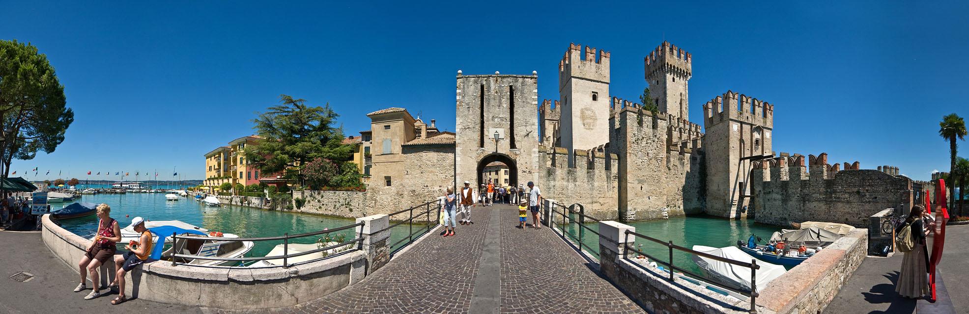 Sirmione castle - Castello Scaligero - from outside