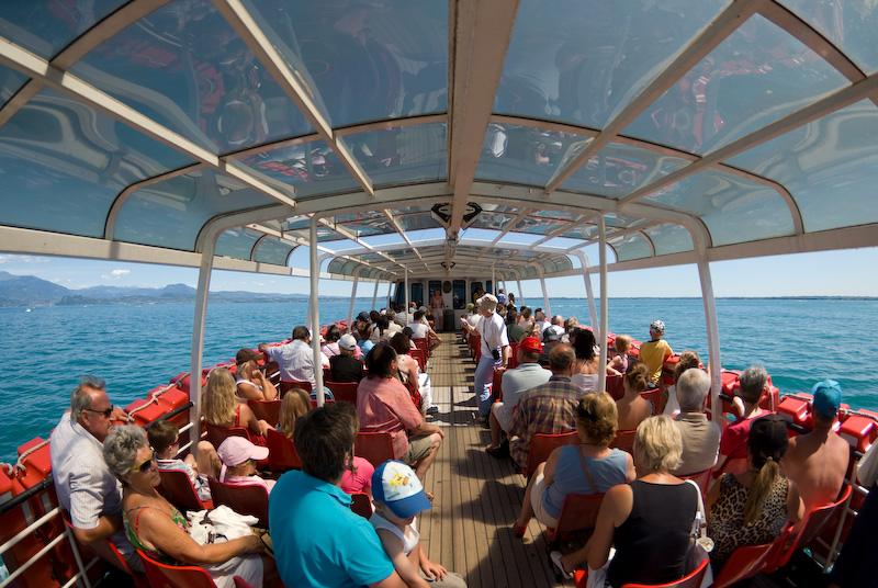 On a tour on Lake Garda