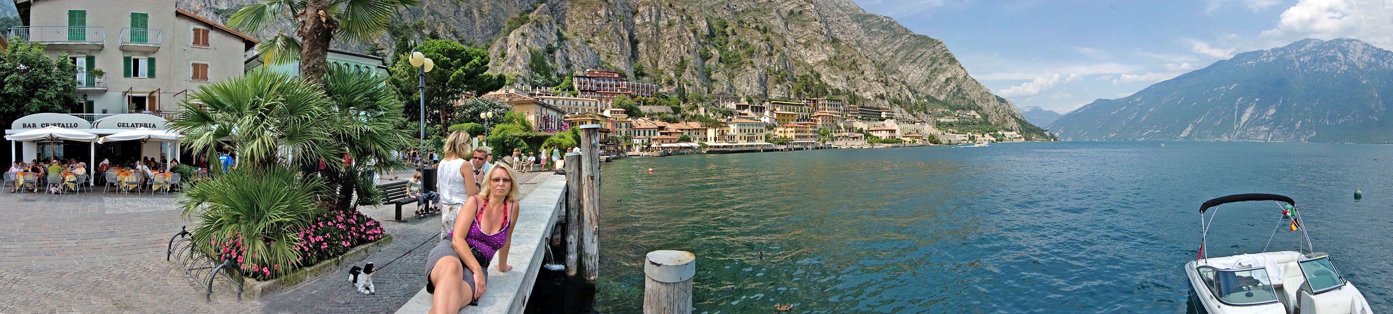 Panoramic view of Limone