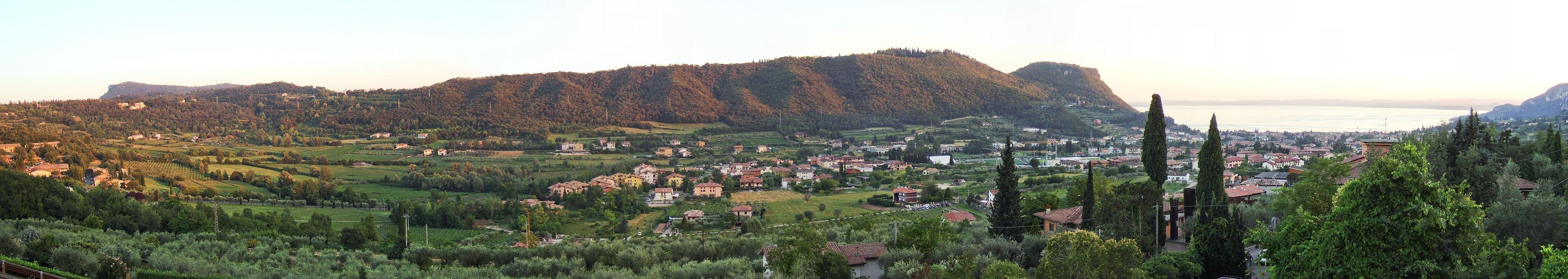 Garda seen from Ristorante Miralago, Costermano