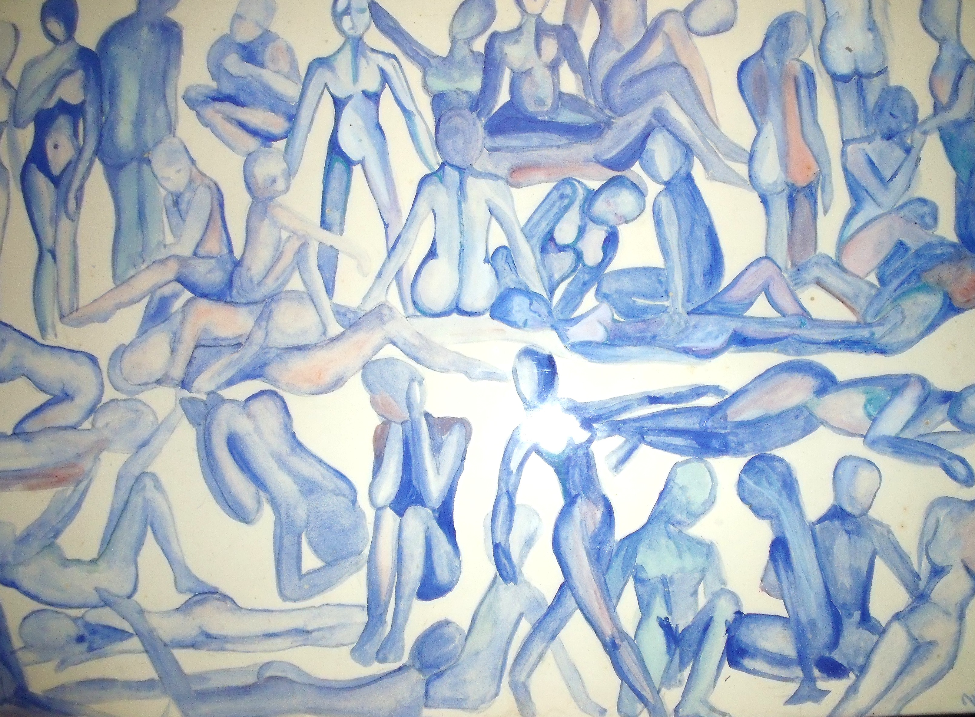 Blue nudes, one of my first paintings