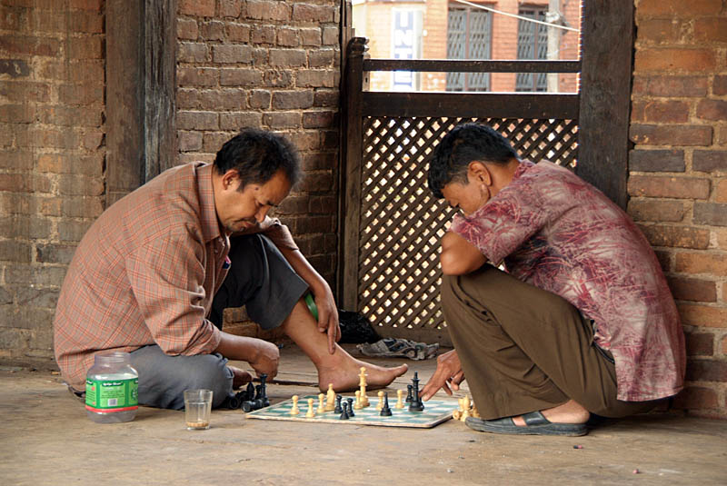 Men Playing Chess Bhaktapur