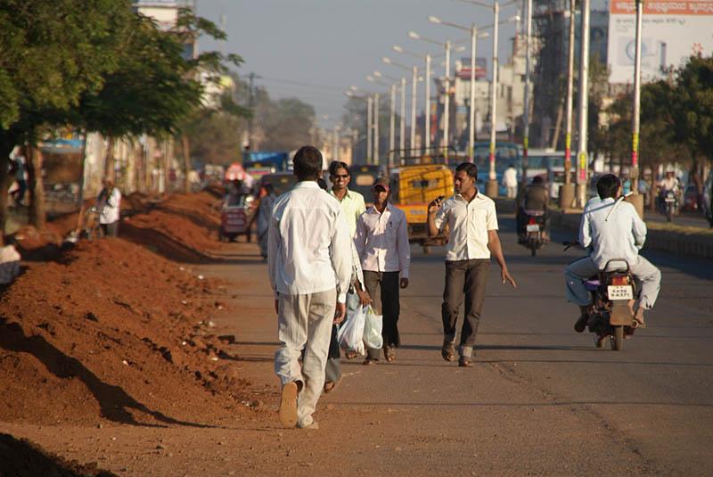 Walking Down the Road Bidar