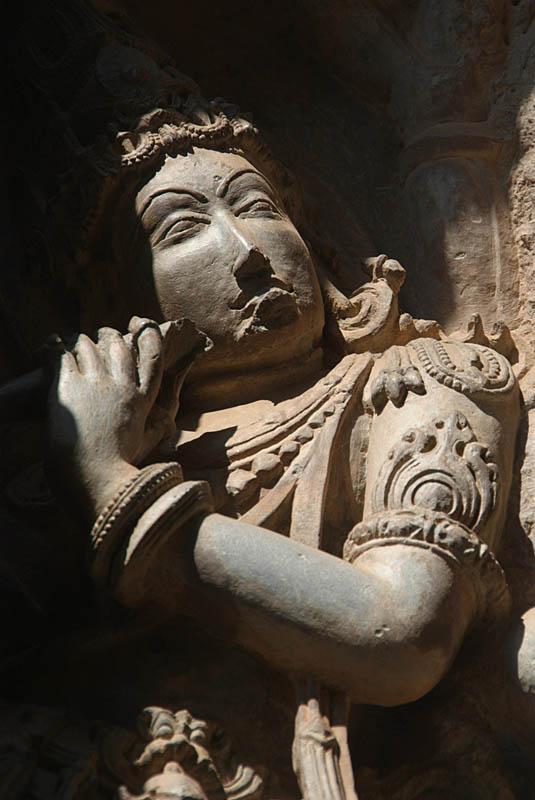 Stone Figure on Hoysaleswara Temple Halebid