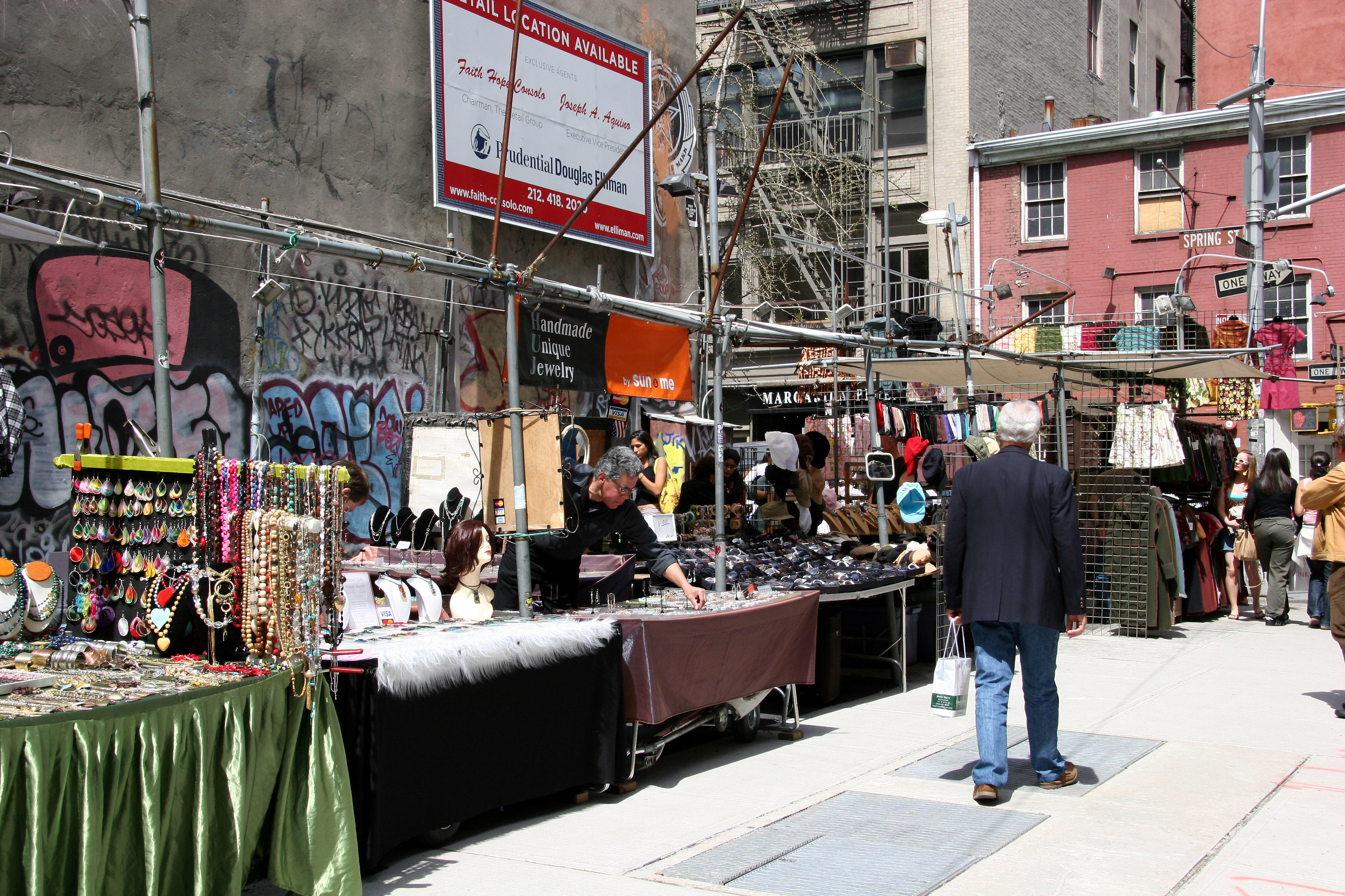 Flea Market at Spring Street Intersection